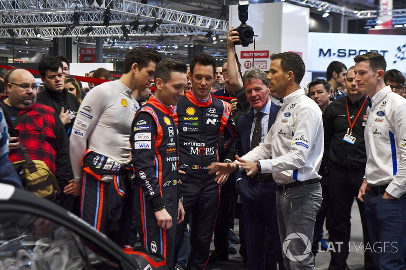 WRC drivers including Hayden Paddon, Thierry Neuville, Sébastien Ogier and Elfyn Evans