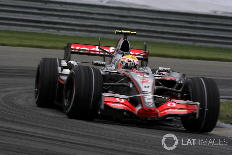 2007 - Indianapolis : Lewis Hamilton, McLaren-Mercedes MP4-22