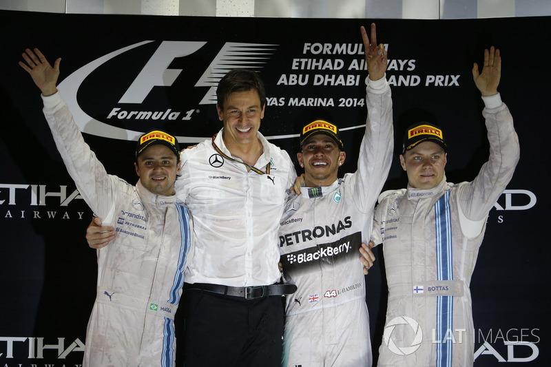 2014: 1. Lewis Hamilton, 2. Felipe Massa, 3. Valtteri Bottas