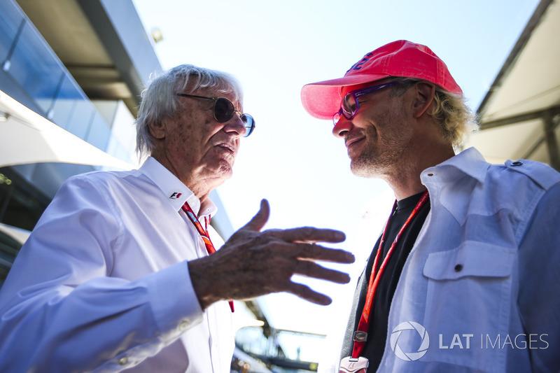 Bernie Ecclestone, Chairman Emeritus Formula 1, Jacques Villeneuve, mantan juara dunia Formula 1