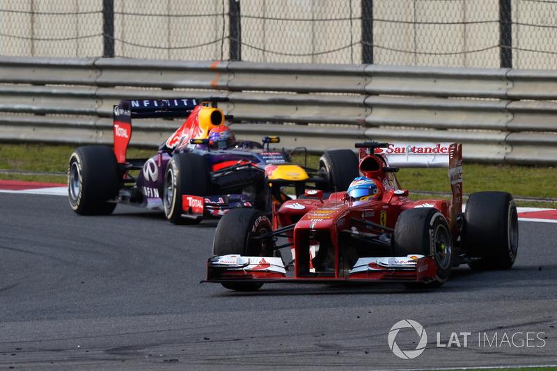 Фернандо Алонсо, Ferrari F138, Себастьян Феттель, Red Bull Racing RB9