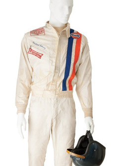 Steve McQueen helmet and suit from the Le Mans movie