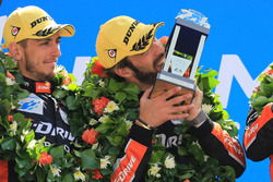 Podio LMP2: i vincitori Andrea Pizzitola, Jean-Eric Vergne, G-Drive Racing