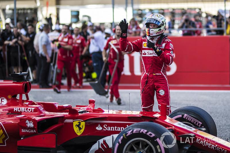 Sebastian Vettel, Ferrari en parc ferme
