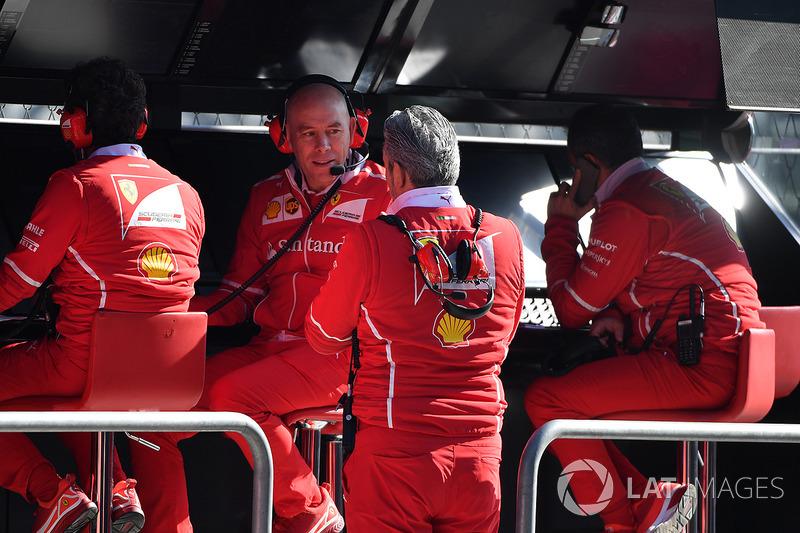 Jock Clear, Ferrari jefe de ingenieros, Maurizio Arrivabene, director de Ferrari Team