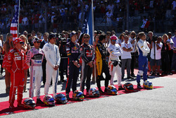 The drivers for the national anthem