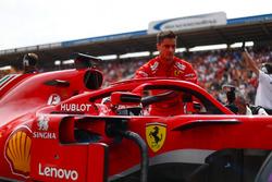 Sebastian Vettel, Ferrari SF71H, on the grid