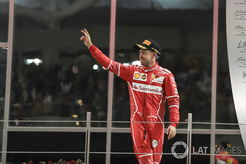 Podyum: üçüncü Sebastian Vettel, Ferrari