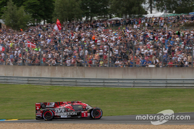 #1 Rebellion Racing Rebellion R-13: Andre Lotterer, Neel Jani, Bruno Senna, senza il musetto