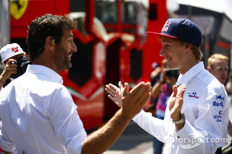 Mark Webber with Brendon Hartley, Toro Rosso
