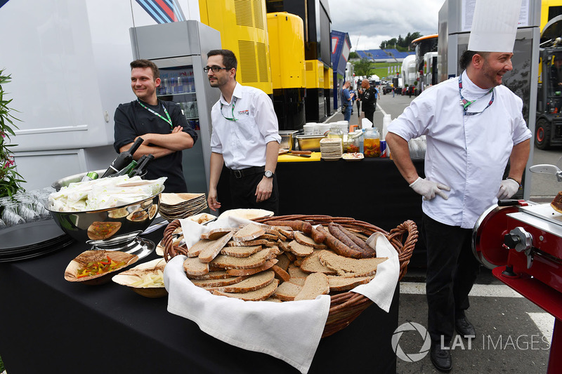 Buffet in the paddock