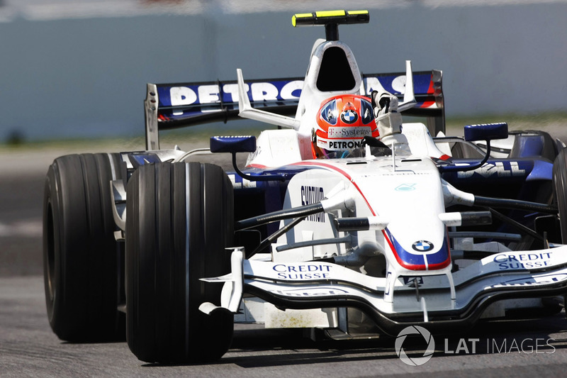 Robert Kubica, BMW Sauber F1.08 ilk zaferini kutluyor