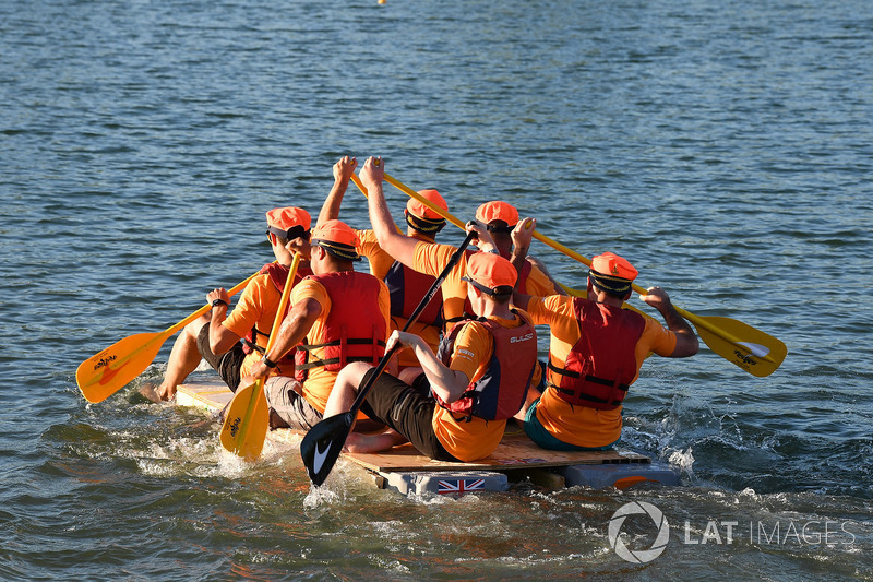 McLaren at the raft race