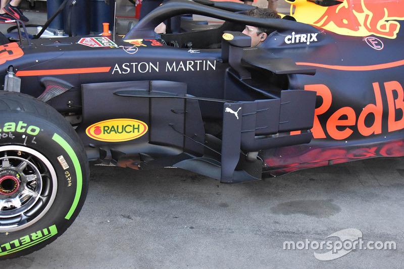 Un déflecteur de la Red Bull Racing RB14