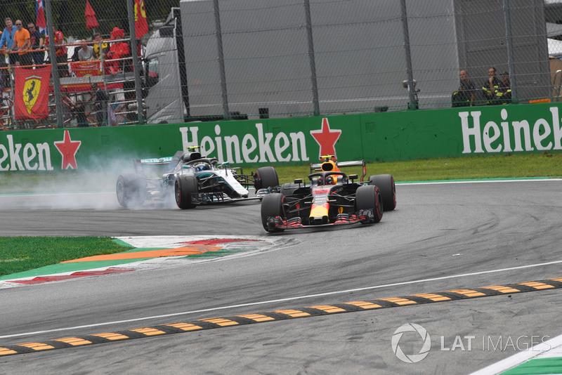 Макс Ферстаппен, Red Bull Racing RB14, Валттері Боттас, Mercedes AMG F1 W09