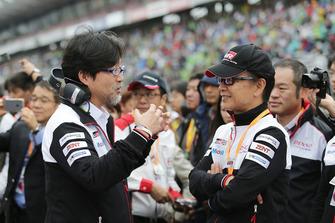 Hisatake Murata, TMG Team President, Shigeki Tomoyama, President Gazoo Racing