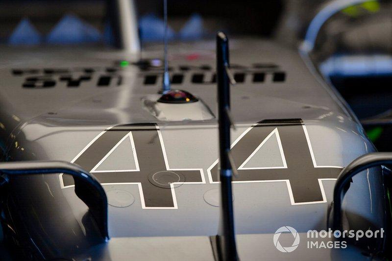 Le nez de la voiture de Lewis Hamilton, Mercedes AMG F1 W10