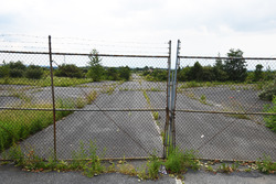 Entrance to the abandoned Nazareth Speedway