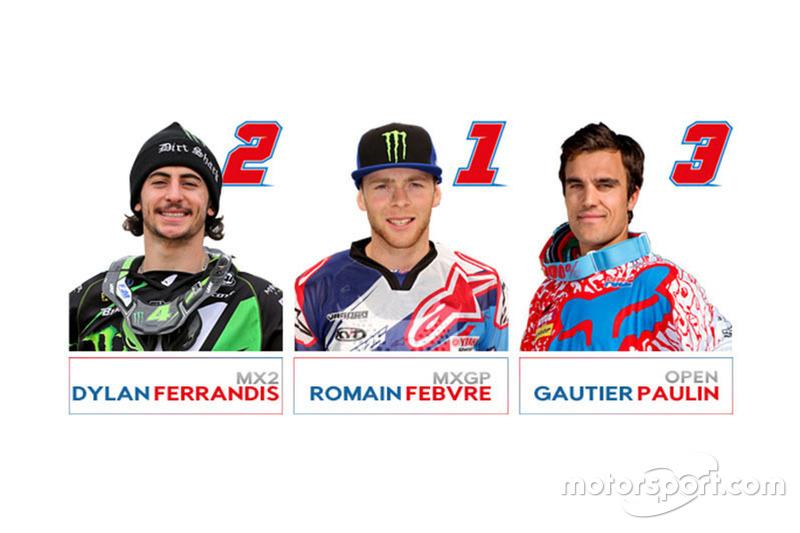 Dylan Ferrandis, Romain Febvre e Gautier Paulin, Team France al Motocross of Nations