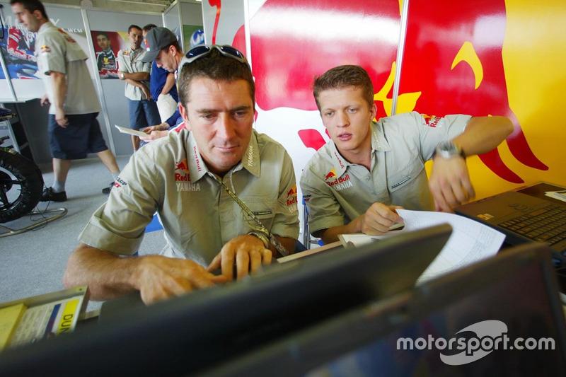 Red Bull Yamaha check the telemetry