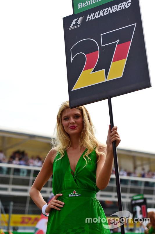 Grid girl de Nico Hulkenberg, Sahara Force India F1