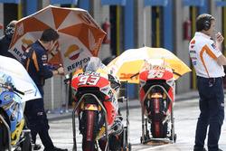 Motocicleta de Marc Márquez, del equipo Repsol Honda