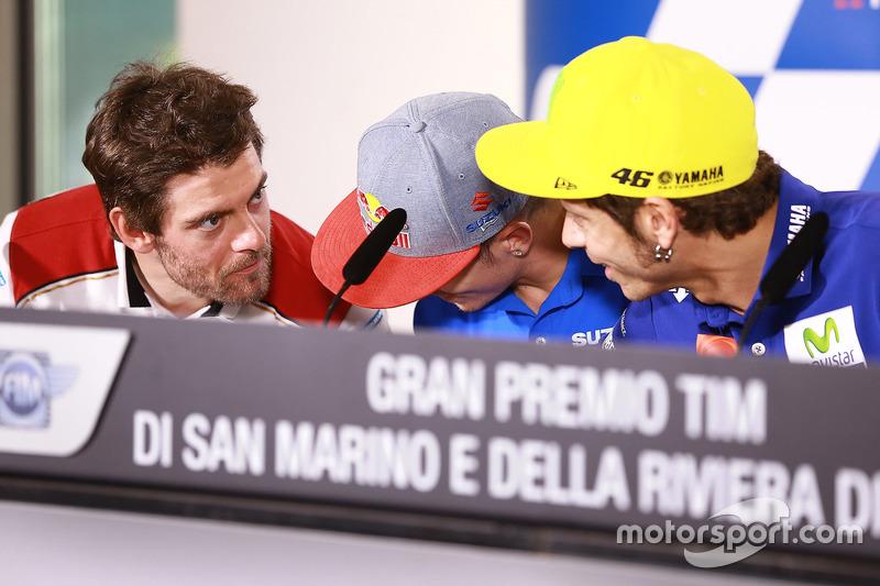 Cal Crutchlow, Team LCR Honda, Maverick Viñales, Team Suzuki Ecstar MotoGP, Valentino Rossi, Yamaha Factory Racing