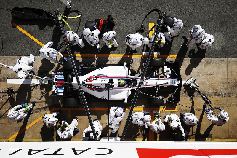 Boxenstopptraining: Felipe Massa, Williams FW40