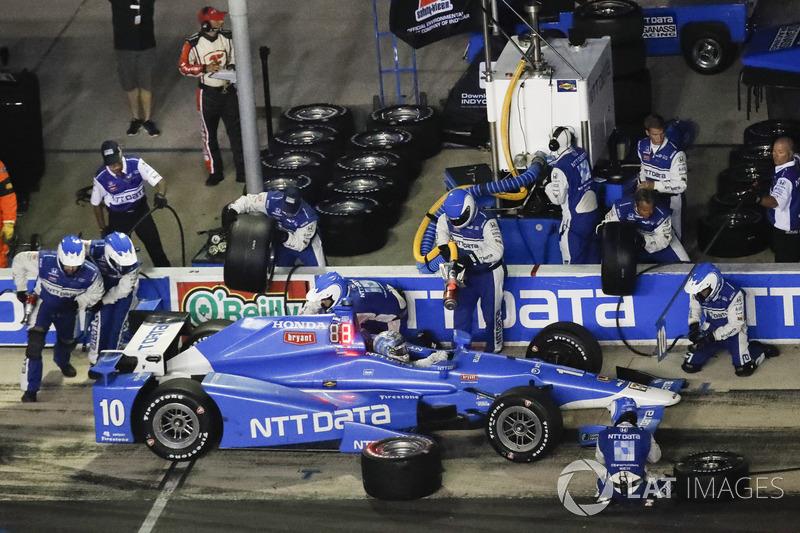 Tony Kanaan, Chip Ganassi Racing Honda, Boxenstopp
