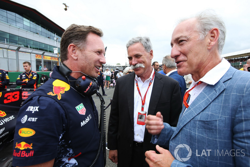 Christian Horner, Red-Bull-Teamchef, Chase Carey, Chairman, Formel-1-Chef