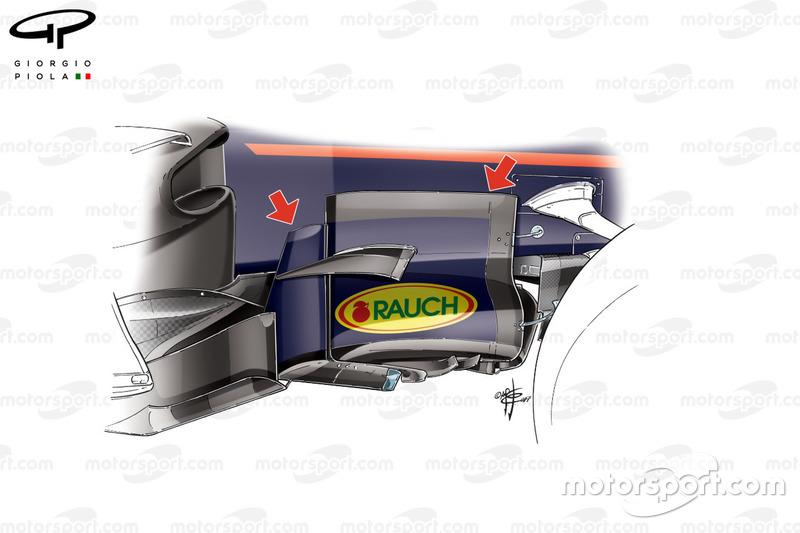 Боковий дефлектор Red Bull RB13, Гран Прі Азербайджану