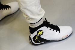 Shoe detail of Fernando Alonso, McLaren