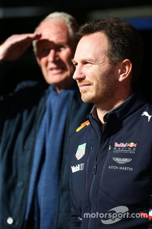 Teamchef Christian Horner, Red Bull Racing, mit Helmut Marko, Red Bull