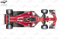 Vista superior de Ferrari SF70H