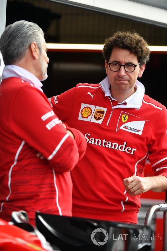 Керівник команди Ferrari Team Мауріціо Аррівабене, технічний директор Ferrari Маттіа Бінотто