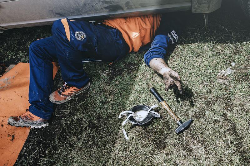 Red Bull KTM Factory Racing mechanic at work