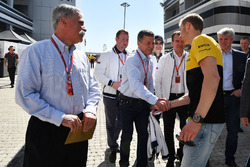 Chase Carey, Chief Executive Officer and Executive Chairman of the Formula One Group, Dmitry Kozak, Deputy Prime Minister of the Russian Federation and Veniamin Kondrytyev, Governor of Krasnodar Region, Sergey Sirotkin, Renault Sport F1 Team Test Driver