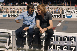 Bernie Ecclestone, proprietario team Brabham e Max Mosley, team manager March Engineering