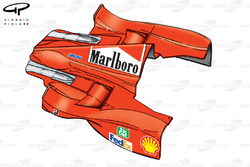 Ferrari F399 sidepod and engine cover
