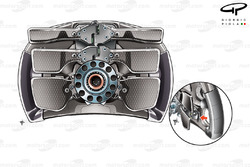 Lotus E20 steering wheel (note small paddle inset)