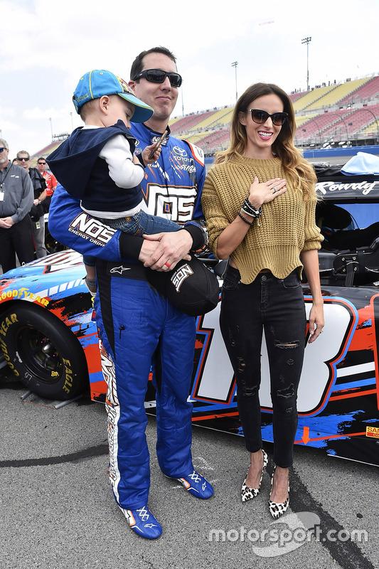 Kyle Busch, Joe Gibbs Racing, Toyota, mit Frau Samantha