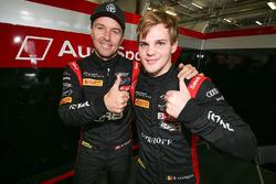 Polesitters Marcel Fassler, Dries Vanthoor, Belgian Audi Club Team WRT