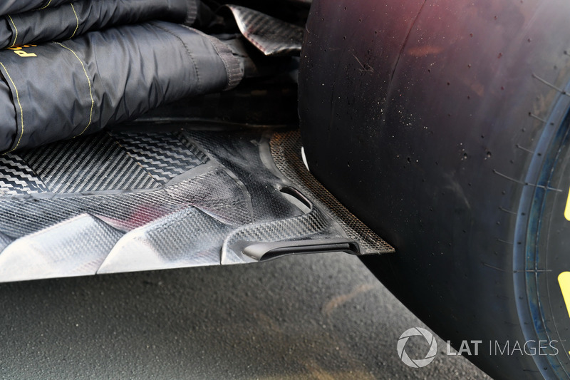 Ferrari SF70H rear floor detail