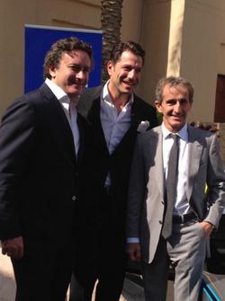 Alejandro Agag, Marco Parroni und Alain Prost