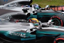 Lewis Hamilton, Mercedes-Benz F1 W08  y Valtteri Bottas, Mercedes-Benz F1 W08