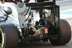 McLaren MP4-31 rear wing and exhaust detail