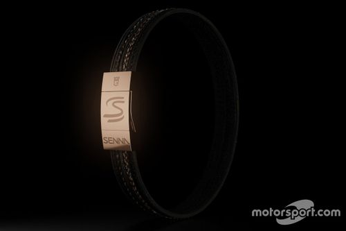 Braceletes do pneu de Senna em Donington