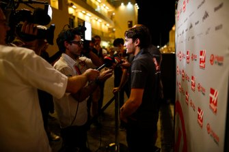 Pietro Fittipaldi, Haas development driver, talks to the media