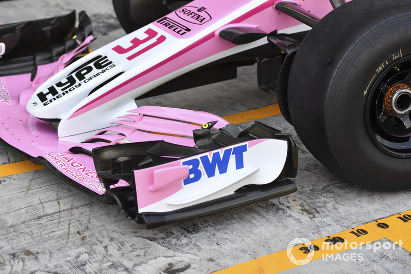 Racing Point Force India VJM11 front wing detail