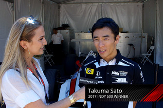 Takuma Sato, Honda with Julia Piquet